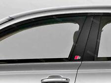 6 x Audi S-line Aufkleber für Fensterverkleidung A4 A5 A6 A7 Q5 Q7 Emblem Logo A