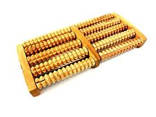 Wood Foot Massage Stress Relief 5 Wooden Rollers Acupressure Roller