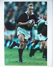 GREGOR TOWNSEND – 1995 SCOTLAND RUGBY UNION AUTOGRAPHED COLOUR PHOTOGRAPH