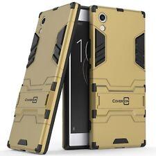 For Sony Xperia XA1 Phone Case Armor Kickstand Slim Hard Cover Gold / Black