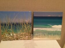 2 Square Beach Photo Canvases by Sean Scott