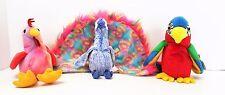 TY Original Beanie Babies Flashy Strut Jabber Bright Colorful Birds Set of 3