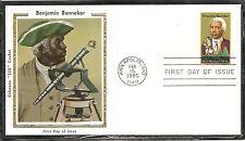 US SC # 1804 Benjamin Banneker FDC. Colorano Silk Cachet..