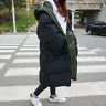 Womens Hooded Coat Warm Loose Winter Warm Puffer Padded Outerwear Jacket Zipper