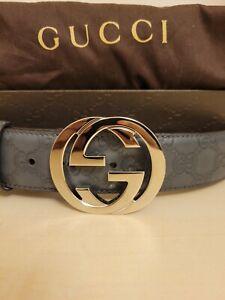 Gucci mens leather belt