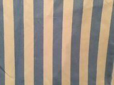 "FABULOUS BLUE & WHITE STRIPE CUSTOM MADE TAP TOP CURTAINS 58X80"""