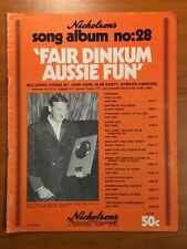 FAIR DINKUM AUSSIE FUN - John Ashe, Slim Dusty, Gordon Parsons Sheet Music RARE