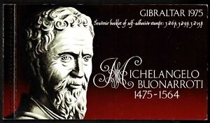 Gibraltar 1975 500th Anniversary Of Birth Of Michelangelo Booklet-Two Panes-MUH