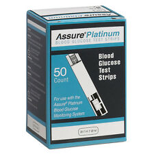 Arkray Assure Platinum Test Strips Glucose Diabetic Blood 50 Count Exp 11/25/19
