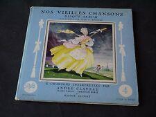 JEAN A MERCIER DISQUE ALBUM T4 NOS VIEILLES CHANSONS 1957