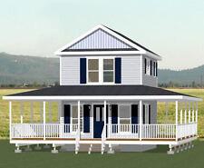 16x20 Tiny House -- 569 sq ft -- PDF FloorPlan -- Model 7