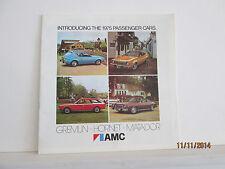 AMC  Introducing the 1975 passenger cars  American Motors   dealer brochure