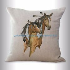 US SELLER- wholesale pillows decorative equine horse equestrian cushion cover