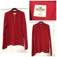 Hollister Long Sleeve T Shirt Mens Red Size Large L (C99)