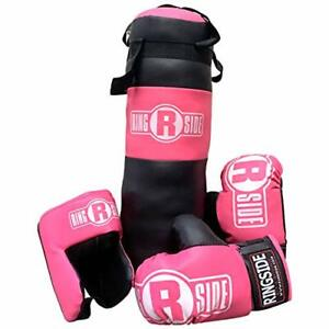 Ringside Youth Kids Boxing Kit Training Bag Set Punching Bag Gloves Heavy Bag