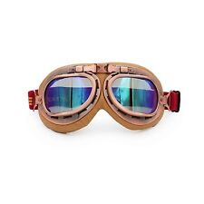 Retro Vintage Aviator Pilot Motorcycle Cruiser Scooter Bike Goggles For Harley T