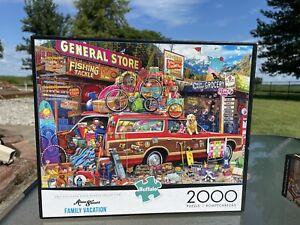 Buffalo Games ~ Aimee Stewart ~ Family Vacation ~ 1000 Piece ~ Jigsaw Puzzle