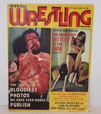 VTG Official Wrestling July 1975 Apartment Wrestling, Luis Martinez, Toni Rose