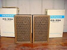 Vintage Pioneer CS-33A 2-way Speakers Original 1 Owner Smoke Free Home 1970's