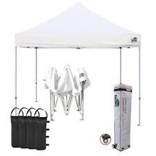 White Ez Pop Up Canopy Outdoor Party Garden Picnic Tent Trade Show Shade Shelter