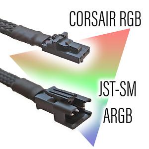 Corsair RGB to Phanteks/Lian-Li/Light Strip JST-SM ARGB Adapter