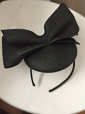 Posh Black Fascinator Headband Wedding Races Classy
