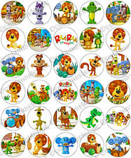 30 x Raa Raa the Noisy Lion Party Edible Rice Wafer Paper Cupcake Toppers
