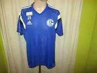 FC Schalke 04 Adidas Spieler Freizeit-Training Trikot 2014/15 + Nr.25 Gr.L
