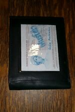 Mens Vintage Genuine Soft Black Leather Bi-Fold Wallet Pass Case - FREE SHIP #3