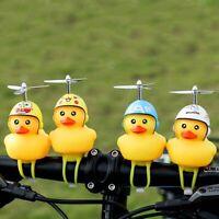 Funny Yellow Little Duck Shape Bicycle Bell + Shining Mountain Bike Head Light