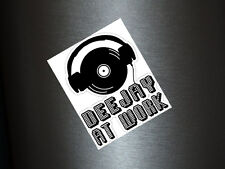 1 x Aufkleber DJ at Work Disc Jockey Musik Disco Music Sticker Club Tuning Fun