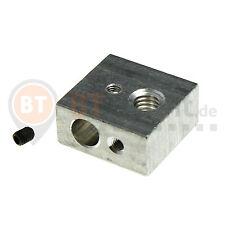 Heater Block Alu Extruder Hotend MK7 RepRap 3D Drucker Heizblock MK8 Makerbot