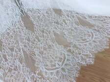 Chantilly Lace French Scallop Fabric for Christening Gown Bridal Shower Dress