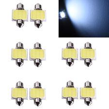 10× White 31mm 12smd COB LED DE3175 Bulbs For Car Interior Dome Map Lights