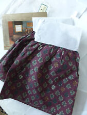 Nip Vtg Bed Skirt Lady Pepperell Twin Size Northwoods Greens, Browns, Red Wine