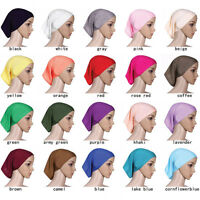 Muslim Women Hijab Soft Inner Caps Islamic Ladies Underscarf Bonnet Hat Headwear