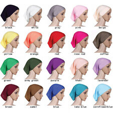 Muslim Women Soft Under Scarf Inner Cap Bone Bonnet Neck Cover Hijab Cap Wrap