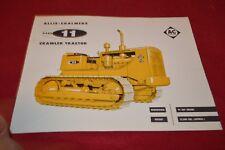 Allis Chalmers HD-11 Crawler Tractor Dealer's Brochure YABE14 ver33