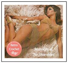 1970s Bikini (Monokini) Retro Swimsuit Crochet Pattern Copy