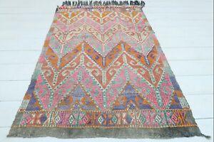 "Turkish Fethiye Small Kilim Doormat, Bathmat Small Area Rug Carpet Tapis 32""X50"""