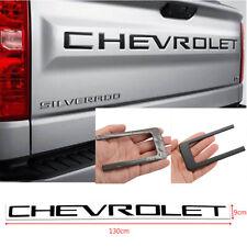 1x Black Tailgate Letters ABS Plastic Inserts For 2019~2020 Chevrolet Silverado