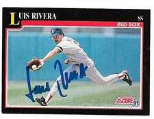 LUIS RIVERA 1991 SCORE AUTOGRAPHED SIGNED # 271 RED SOX