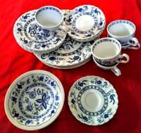 Blue Nordic Johnson brother dinnerware set