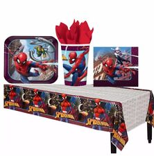 Spiderman Webbed Wonder Table Ware Set Tablecover Plates Cups Napkins Spider Man