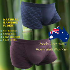 Mens Underwear - 2 Pack Bamboo Boxer Briefs, Trunks, Jocks - No Chafe Odourless