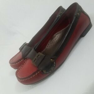Cole Haan Air Women Loafer Flat Shoes Size 7B Wine Maroon Buckle Detail