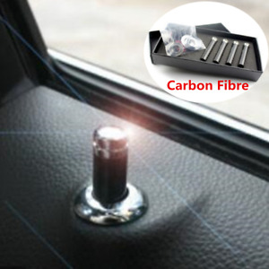 Car SUV Interior Door Lock Pins Button Screw Knob Carbon Fibre Cap Cover Insert