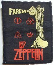 """Led Zeppelin """"Farewell"""" Vintage Bicolor Patch Hard Rock Aufnäher Memorabilia"""