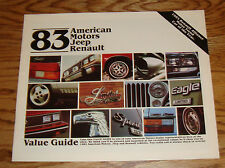 Original 1983 AMC Jeep Renault Full Line Sales Brochure 83