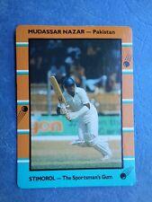 SCANLENS STIMOROL 1988/89 CRICKET CARD - Mudassar Nazar # 127 (Pak)